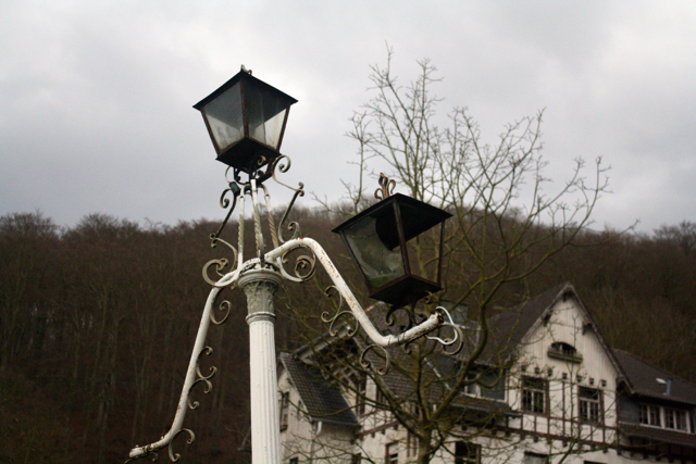 Lampost in front of Abandoned old house - Drachenfels, Bonn, Germany