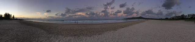 Byron Bay sunset panorama