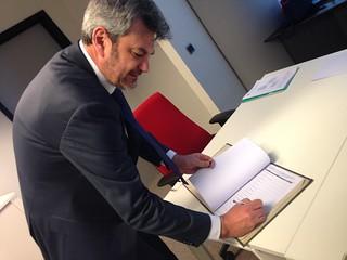 La prima firma di Damiano Zoffoli nel registro delle presenze MEP a Bruxelles