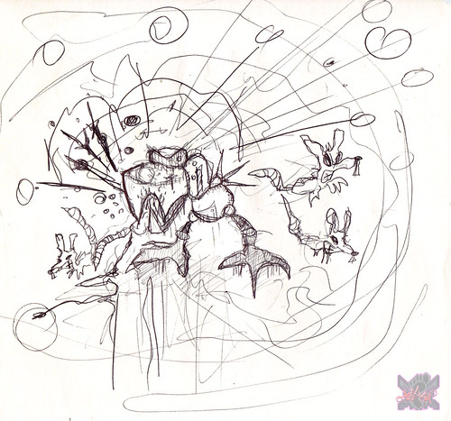 "terrible2z.com :: Abandoned ""M0S-33, Mousee the Mouser"" art (( 200x ))"