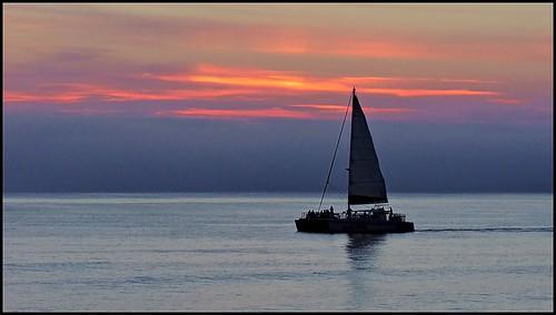 sunset gulfofmexico sailing florida catamaran pointandshoot panamacitybeach longlens partyboat standrewsstatepark calmwaters corelpaintshoppro floridastateparks nikoncoolpixp600