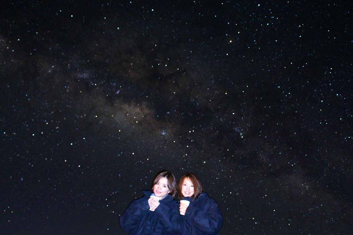 マウナケアの山からの満天の星空