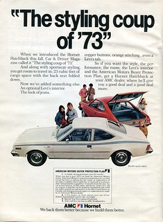 1973 American Motors AMC Hornet Advertisement Newsweek April 2 1973