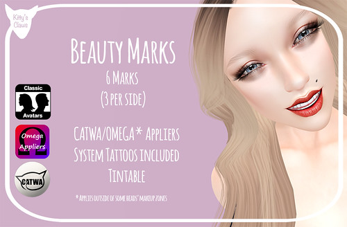 Kitty's Claws: Beauty Marks for CATWA/OMEGA/System Layers