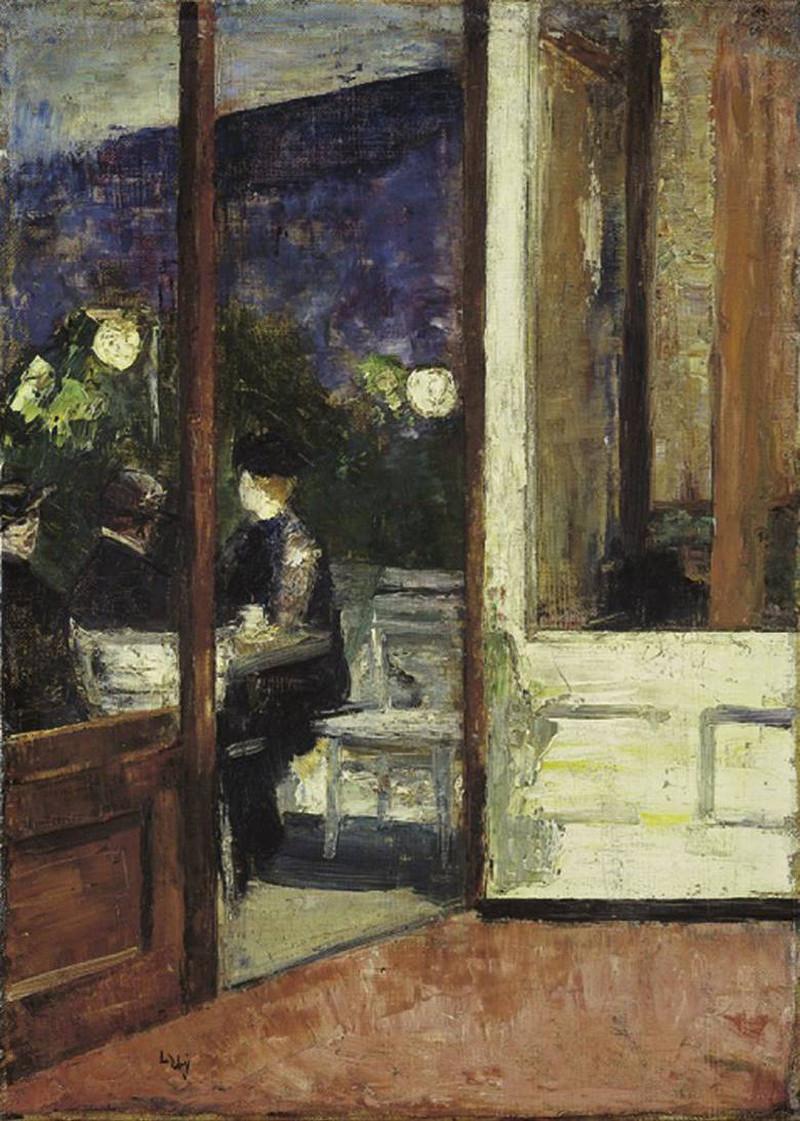 Café Bauer by Leo Lesser Ury, 1889