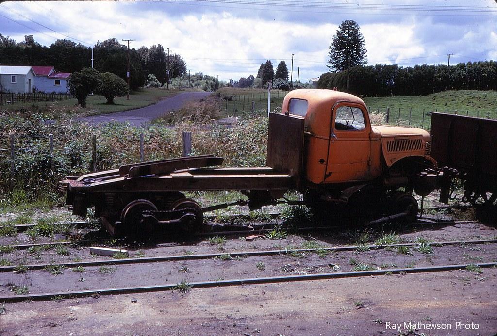 Old Dodge loco Mamaku mill Jan 1970