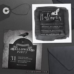 Bats, crows, tombstones and skulls make the perfect Halloween party invitation! You can find these @greenvelope #halloween #party #halloweennight #partyinvitations