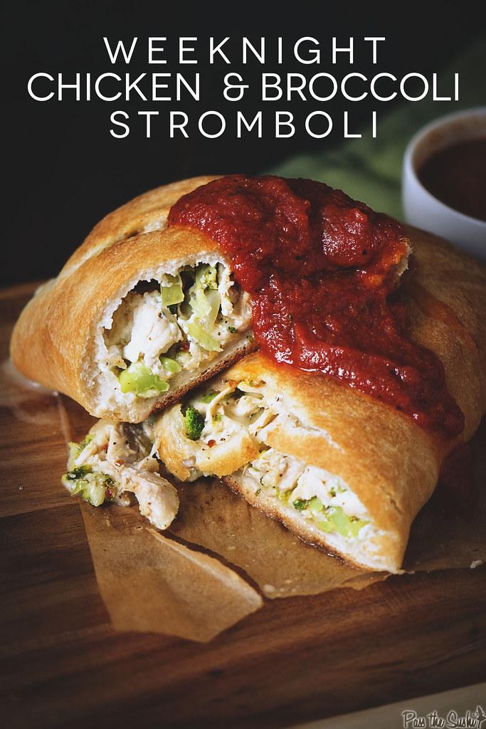 Weeknight Chicken and Broccoli Stromboli  | GirlCarnivore.com