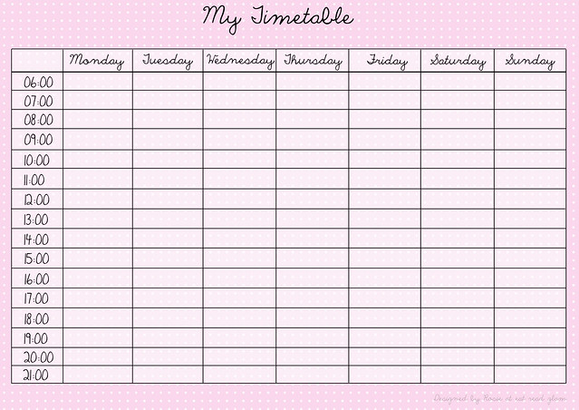 Download pink timetable