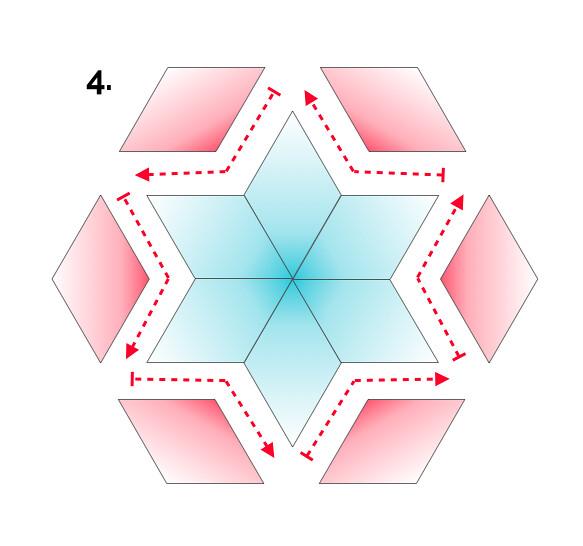EPP Colorwash Star Ornament Tutorial