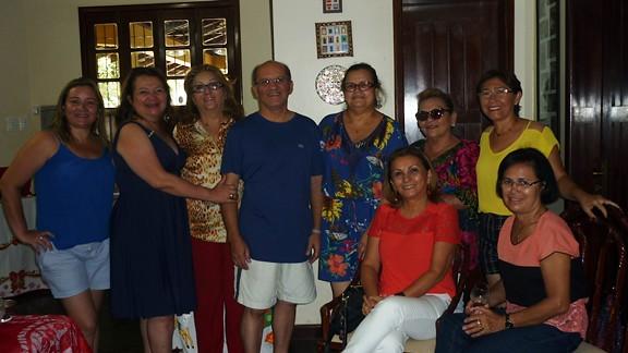 Carlos e Walda Martins com amigos