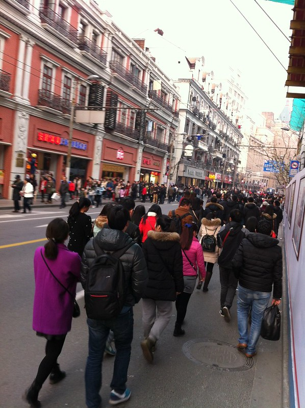 Nanjing Road, toujours fréquentée