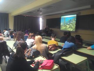 Sesión sobre infografía con Alberto Cairo en Universidad de Miami y Univisión, por Bella Palomo en #tipo1415 (02/12/14, Grado de Periodismo, Facultad CC.Comunicación UMA)