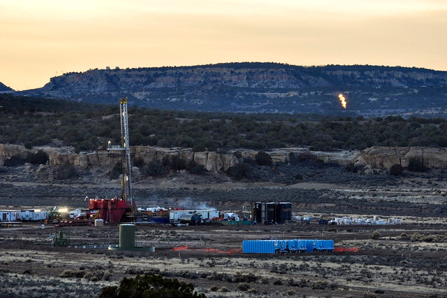 a shale well in New Mexico