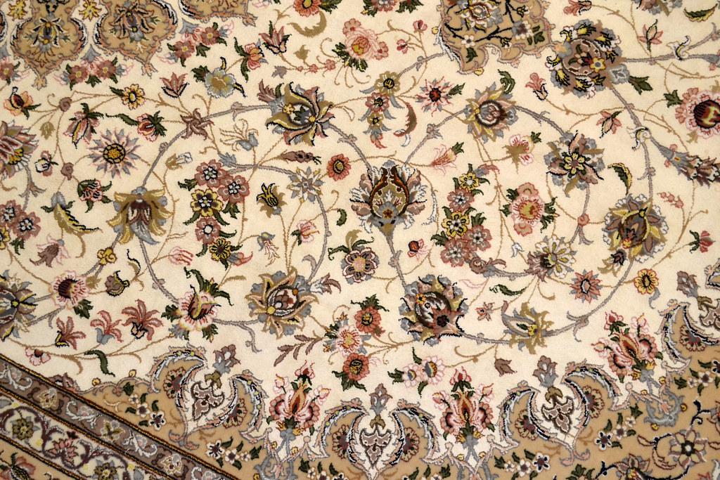 Pair Isfahan Esfahan Kaf Abrisham 7x10 persian Fine Area Rug (11)
