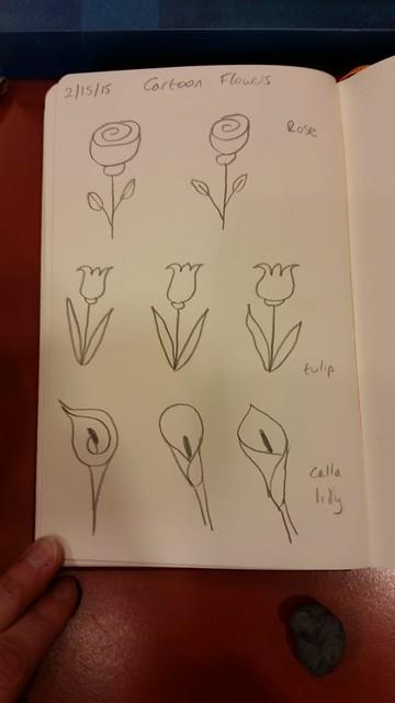 Flower doodles.