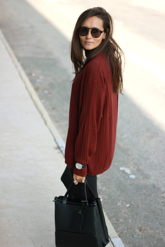burgundy jersey oversize coohuco 10