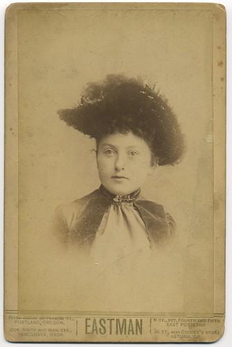 Fancy Hat Cabinet Card