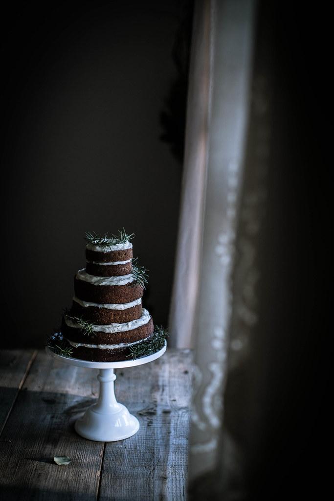 姜饼高粱蛋糕+奶油芝士马斯卡彭霜