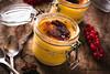 Cream brulee in jars