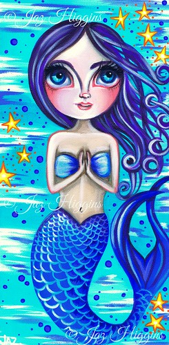 """Blessed Mermaid"" original painting by Jaz Higgins"