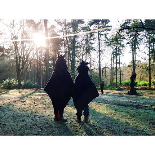 """Whilst shooting The Smalls playing in their #dragon cloaks today, a fair amount of my 2 hours at the #LickeyHills was spent standing around saying """"OMG DAT LIGHT DOE"""". 😍 #vscocam #vsco #KidsAtChristmas #dragons #adventures"""