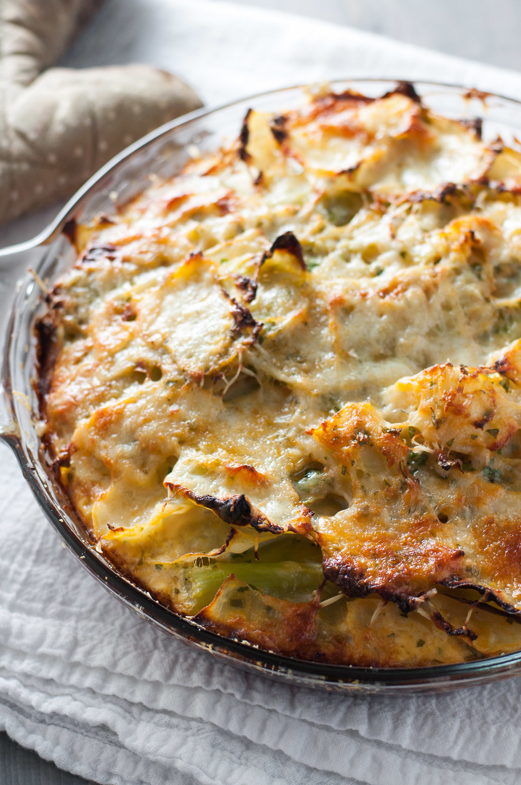 #meatless cabbage gratin recipe - no bechamel sauce required.
