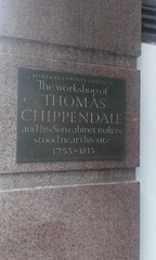 Photo of Thomas Chippendale and Thomas Chippendale, the younger brass plaque