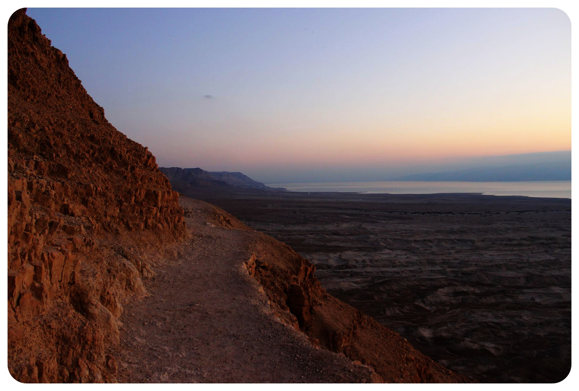 snake trail before sunrise masada israel