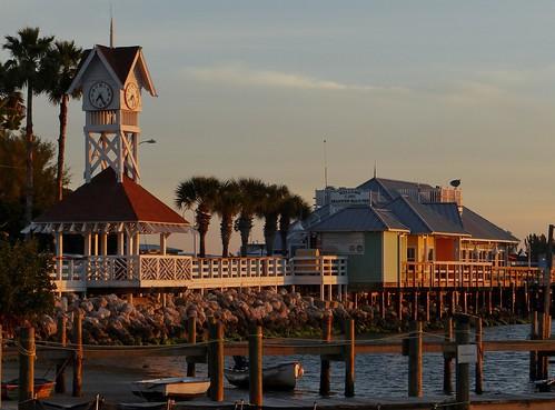 clock sunrise pier florida bridgest bradentonbeach