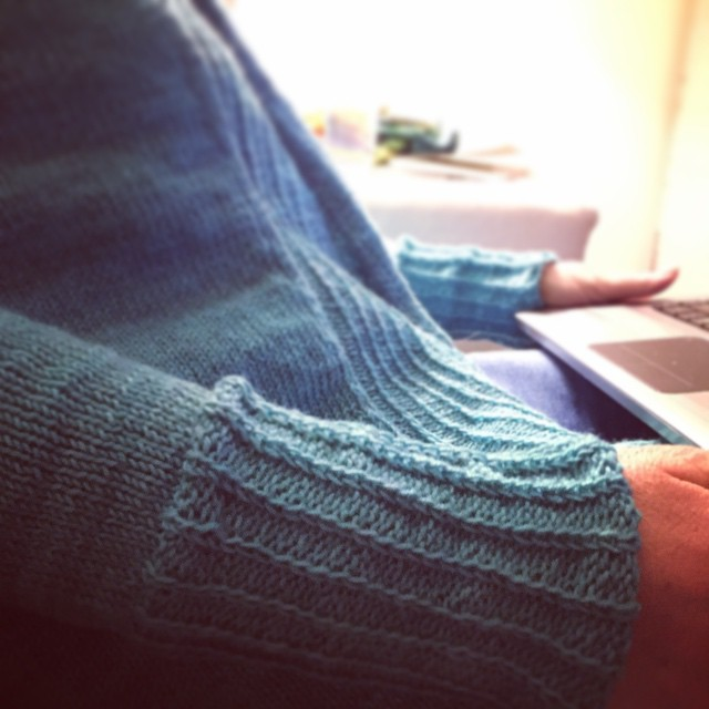 SUCCESS! I gave Mom her birthday gift (Amy Miller's Isabel in #pluckyknitter yarn) and it fits!  This has been my secret project for three months. I can finally show you!! @ She's already got it on to search for Nashville lunch spots for tomorrow. Suggest