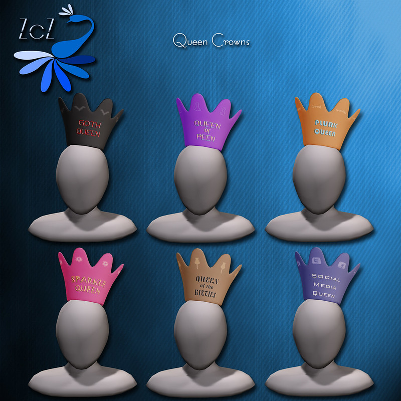 ZcZ Novelty Crowns Queens