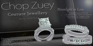Moonlight in Love Wedding Set Plt