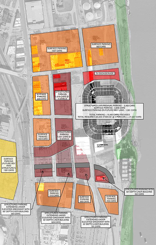 Stadium Site Plan Demolition Overlay