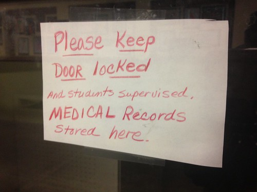 Please Keep Door Locked and Students Supervised Medical Records Stored Here HIPA Grand Rapids Montessori School