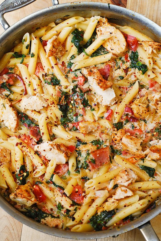 Recipe chicken pasta garlic sauce