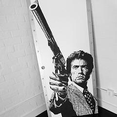 Dirty Harry on a door. #losangeles #elsegundo