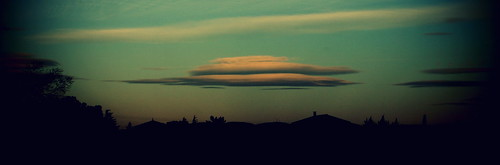 Clouds like UFOs.