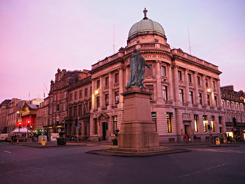 Edinburgh George Square sunset
