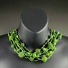 Wet felted bead & bead soup Necklace