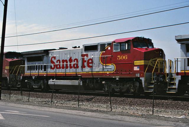 Santa Fe B40-8W No. 506 At Hobart Yard