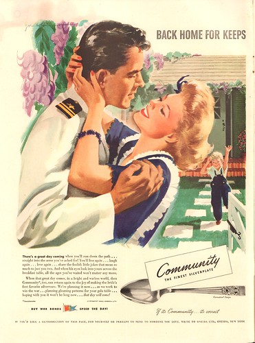 1943 Community Silverplate WWII Advertisement Life Magazine September 13 1943