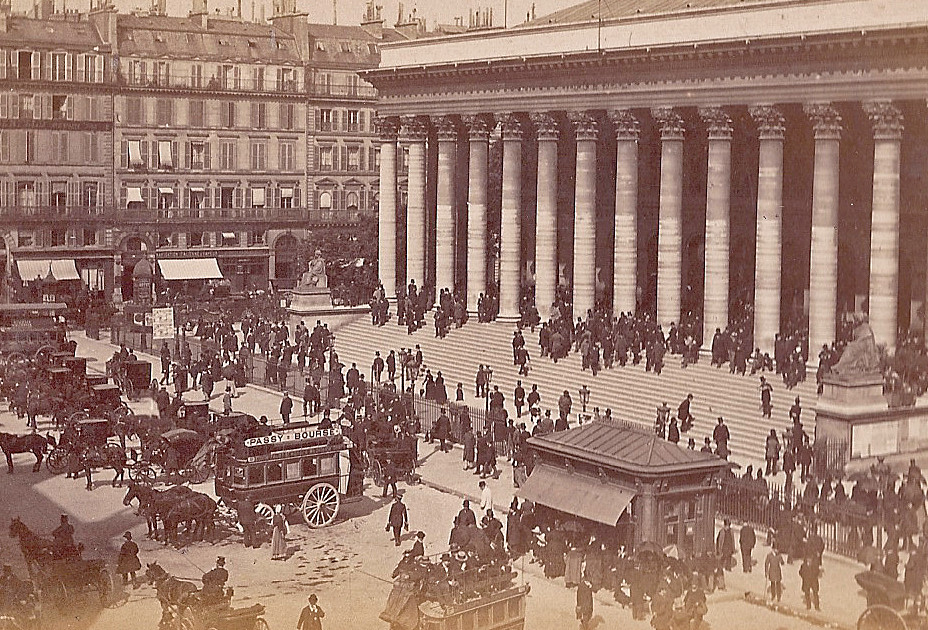 Place de la Bourse, Paris 1890.