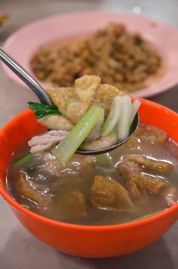 Fried Dumpling in Soup