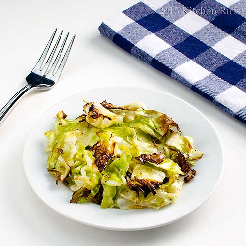 Easy and Tasty Roast Cabbage on plate
