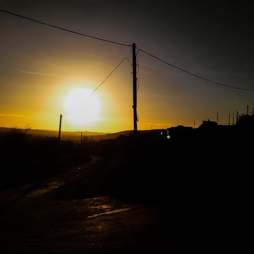 Evening sun on Kilgobnet hill.