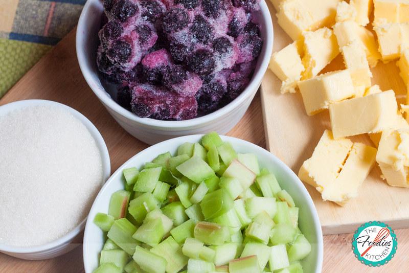 Rhubarb Berry Squares