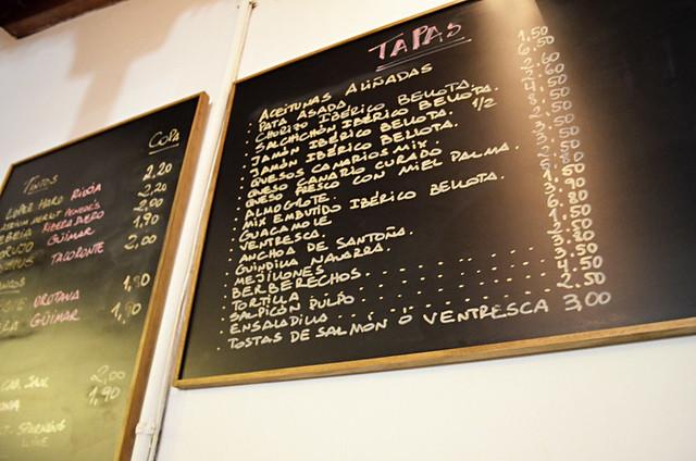 Tapas bar, Tenerife