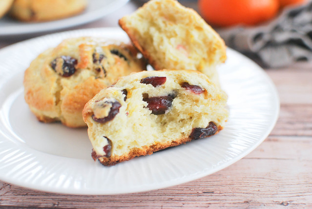 Cranberry Orange Scones - even better than your favorite coffee shop! Buttery scones full of orange zest and dried cranberries.