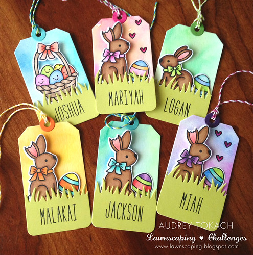 Watercolor Easter Tags